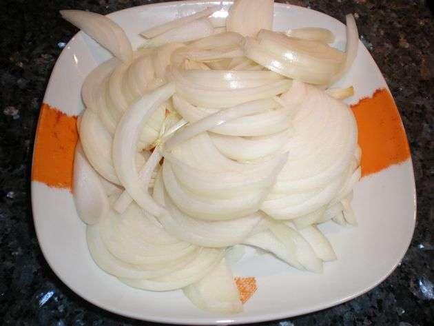 cebolla - Costillas de cerdo, con lomo serrano