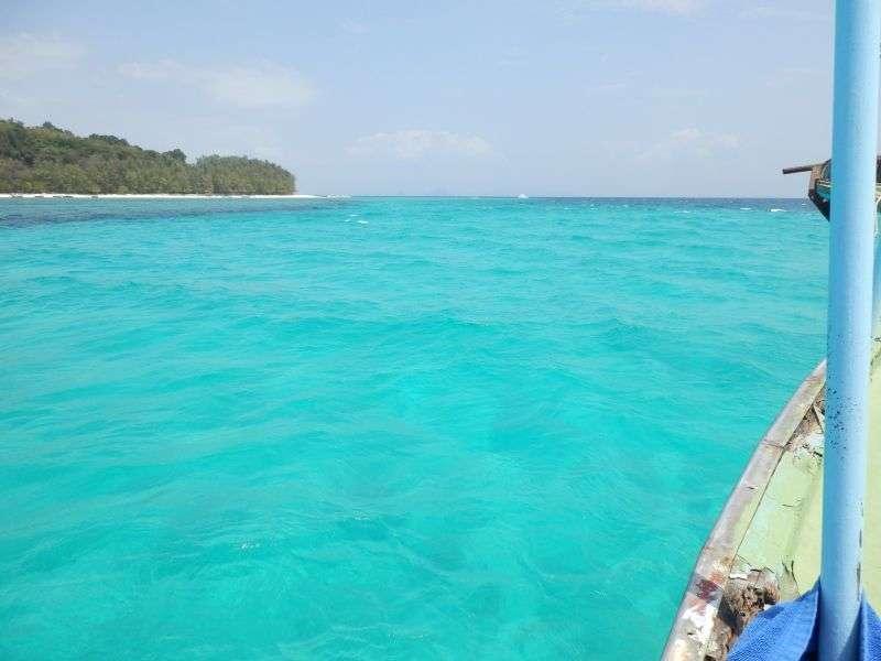 herrliches Wasser an der Bamboo Island