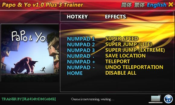 Papo and Yo v1.0 +3 Trainer [FliNG]